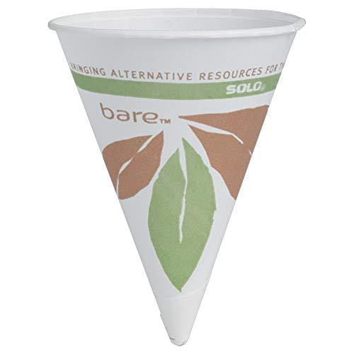 Dart 4BRCT Cone Water Cups, Cold, Paper, 4oz, White, 200 per Bag (Case of 25 ()