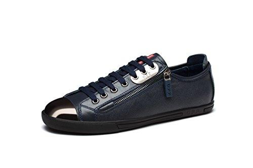 2 Scarpe Classic Uomo Scarpe da OPP Blue Pelle Vera xZq8URYSw