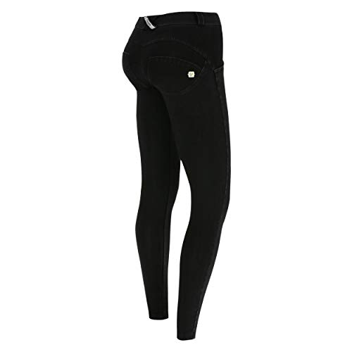 Regular 7 Talle Oscuro Superskinny Pantalón Wr Freddy De Efecto up® 8 costuras Jeans Denim Small Negro Punto Negro Cwq8Fntx