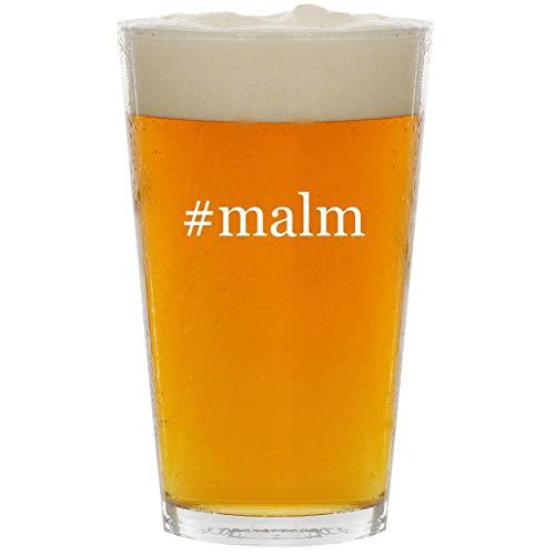 (#malm - Glass Hashtag 16oz Beer Pint)