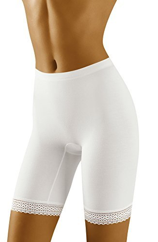 BBShapewear Ladies Control Slimming White Black or Nude Beige Plain Thigh Slimmers Shaping Cycling Shorts Lace Leg Anti chaffing Shapewear Mid Rise Elasticated Comfort 12 14 16 18