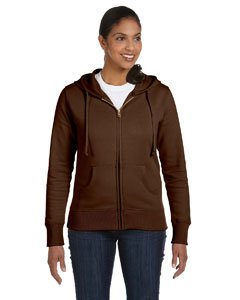 econscious Women's Organic/Recycled Full-Zip Hoodie, Earth - Size Medium