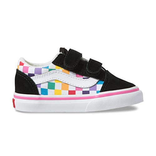 6aa2365f91 Vans Old Skool V (Checkerboard) Rainbow/True White