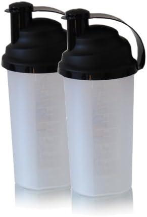 Top de huevo-coctelera de doble-Pack incluido de impacto de colador para agrupa los al aire libre de proteínas Shake/de huevo batido