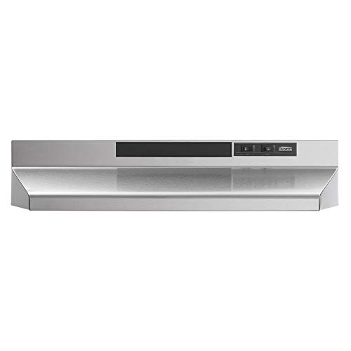 Broan Stainless Steel Convertible Range Hood Insert with Light, Exhaust Fan for Under Cabinet, Silver, 160 CFM, 30