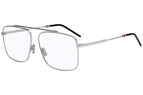 Christian Dior Homme Dior 0220 Eyeglasses 58-14-150 Palladium w/Demo Clear Lens 010 Dior0220