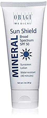 Obagi Medical Sun Shield Mineral Broad Spectrum SPF 50 Sunscreen, 3 Oz