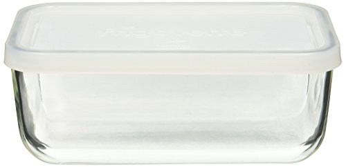 Bormioli Rocco Frigoverre Rectangular Food Container with Frosted Lid, 37-1/4-Ounce
