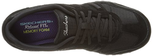 Skechers Breathe Easy Jackpot, Sneakers Basses Femme Noir