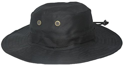 Mafoose Classic Tactical Military Boonie Outdoor Hat Black