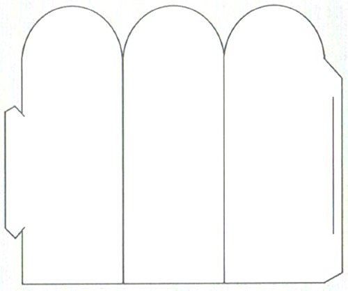 Print-Ready Die-Cut Table Tent, Tri-Fold w Arch (3-1/4'' x 7-1/2''), on 7-1/2'' x 10-3/4'' White 67lb Vellum Paper - 250 Sheets by Zapco