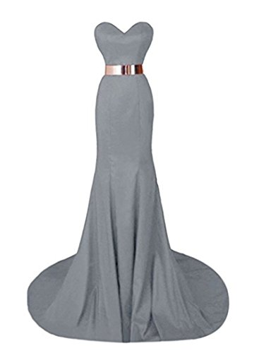 Dresses Evening Gowns Silver Party Angela Long Sweetheart Mermaid Formal Wedding qtvBI