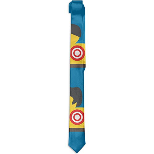 Mens Eco-friendly Fashion Necktie Rubber Yellow Duck Art Tie -