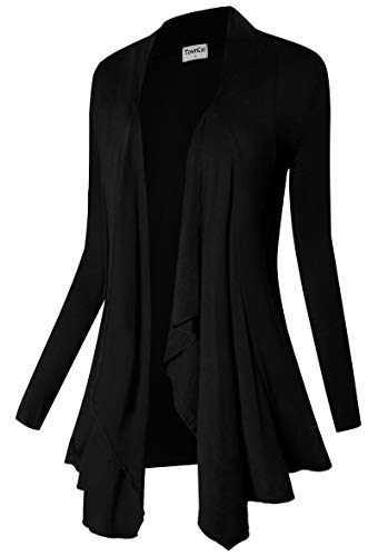 TownCat Cardigans for Women, Soft Drape Front Open Womens Cardigans, Lightweight Long Sleeve Cardigan Irregular Hem