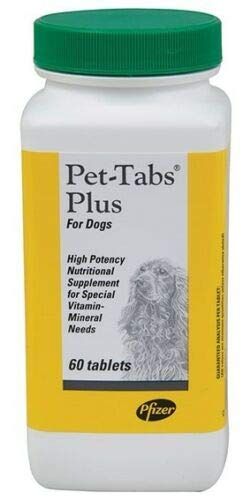 Pet-Tabs Plus Vitamin Mineral Supplement for Dogs 60 Chewable Tablets