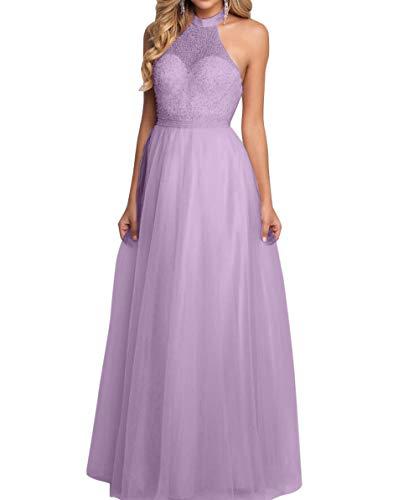 Linie Brau Tuell Lang A mia Prinzess Neckholder Partykleider Abendkleider Romantisch La Flieder Ballkleider Abschlussballkleider qpRwS
