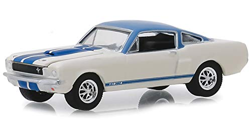 1966 Ford Mustang Shelby GT350 Prototype #001 (Lot #1406) White with Light Blue Top and Blue Stripes Barrett Jackson Scottsdale Edition Series 3 1/64 Diecast Model Car by Greenlight 37160 A from Greenlight