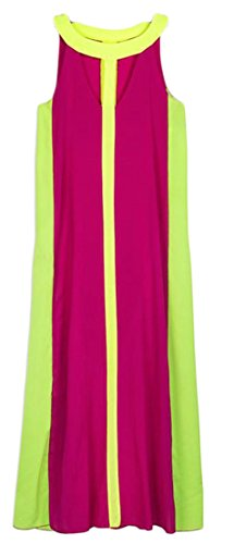 Dress Out Mixi Chiffon Cruiize Womens Color Sleeveless Contrast Rose Cut w85BXq0
