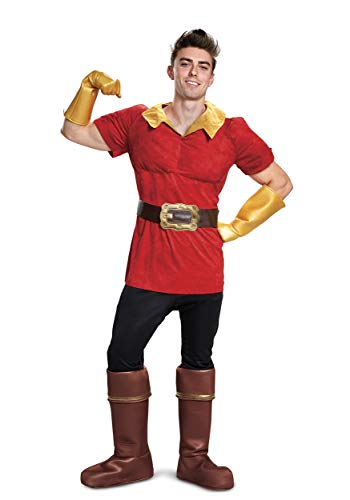 Disney Beauty and The Beast Gaston Mens Costume Medium Red