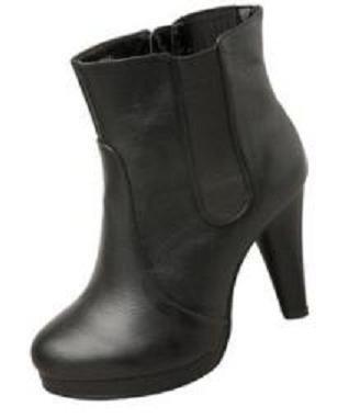 ITALY-ESTILO CONTI PLATAFORMA BOTAS/BOTINES NEGROS: Amazon.es: Zapatos y complementos