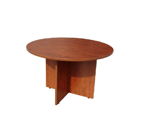Boss Office Products N123-C 47 in Round Table in Cherry by Boss Office Products