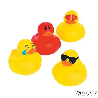 Emoticon Mini Rubber Duckies - 24 pc ()