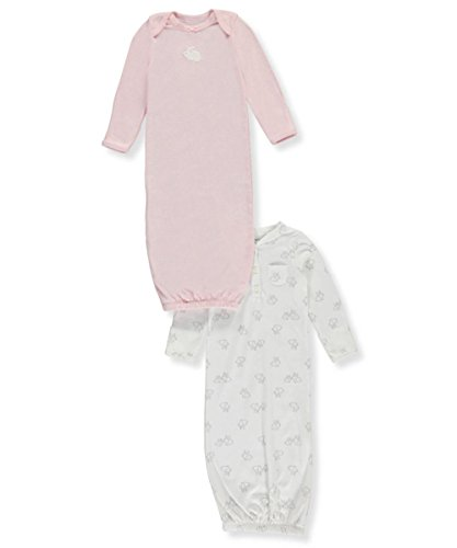 Carters Bunny Girls Newborn (Carter's Baby Girls' 2-Pack Bunny Gowns Newborn)
