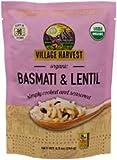 Village Harvest Microwaveable Organic Seasoned Lentil & Basmati Rice 8.5 oz (Pack of 6)