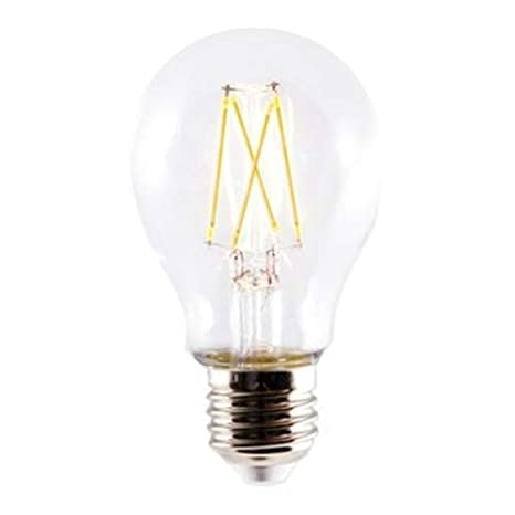 Silver Electronics LED Filamento Estándar, E27, 6 Watts, Transparente W: Amazon.es: Iluminación
