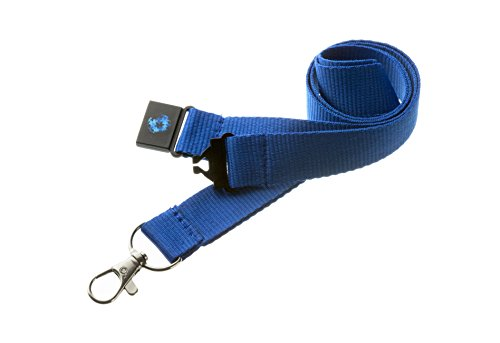 20mm Quality Neck Lanyard/Badge Holder/Skipass Holder/Whistle Holder with Safety Breakaway in Various Choice of Colors - Pac Supplies Usa (Blue)
