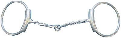 Metalab Brushed Stainless Twisted Loose Ring Snaffle