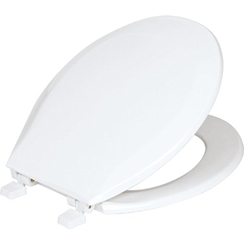 Cover Cranes - Maintenance Warehouse Round Front Toilet Seat with Cover, White. Fits All Manufacturer's Round Toilets