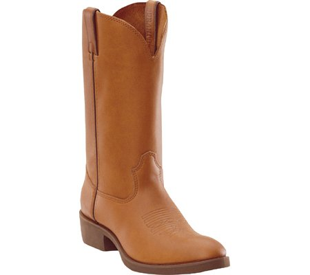 Durango Men's Spr Leather Farm And Ranch Boot Round Toe Tan