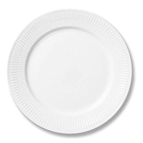 Royal Copenhagen White Plain Buffet Dinner Plate