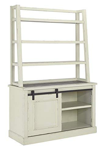 Ashley Furniture Signature Design - Jonileene Home Office Hutch - Hutch Only - Distressed White Finish - Dark Gray Hardware by Signature Design by Ashley