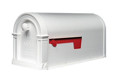 Gibraltar Mailboxes Laurel Medium Capacity Rust-Proof Plastic White, Post-Mount Mailbox, LM11000W (White Plastic Post)