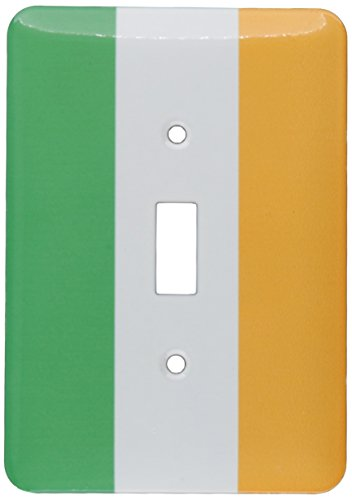 3dRose lsp_158340_1 Flag of Ireland Irish Green White Orange Vertical Stripes United Kingdom Uk World Country Souvenir Light Switch Cover