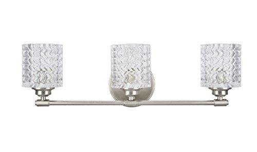 Aspen Creative 62058, Three-Light Metal Bathroom Vanity Wall Light Fixture, 24