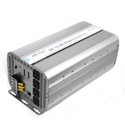 AIMS Power 5000 Watt DC To AC Power Inverter, 5000W Max Continuous Power, 10000W Surge Peak Power, Over Temperature LED Indicator, Over Load LED Indicator, AC Direct Connect Terminal Block, On/Off