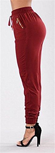 Lang Skinny Nero Libero Tempo Rot Women Matita Pants Pantaloni Casual Pantaloni Eleganti Moda Pantaloni Donna Libero Grazioso Basic Jogging Elastico Giovane Pantalone A Tempo OxPSHnYx1q