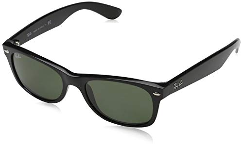 Ray-Ban RB2132 NEW WAYFARER Black Crystal Green Sunglasses