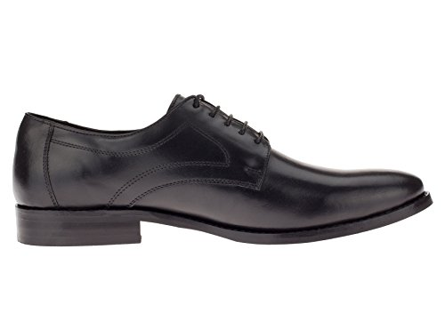 Gino Valentino Mens Leather Dress Shoe Lace-Up Madison Oxford Black IsY2c