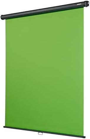 celexon Rollo Chroma Key Green-Screen, 200 x 190 cm - professionelle Studiokulisse/Hintergrund für Video-Übertragung, Webcam-Meeting, Online-Schulung
