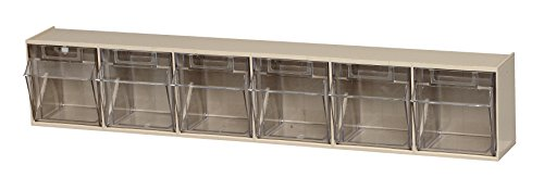 Quantum QTB306 Clear 3-5/8-Inch by 23-5/8-Inch by 4-1/2-Inch Tip Out Bin System, Ivory