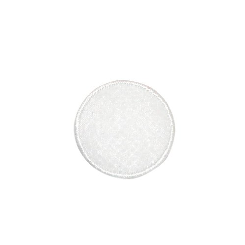 White Organza Circle (ID #8843 White Circle Ball Translucent Center Organza Iron On Applique Patch)
