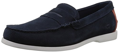 Lacoste Men's Navire Penny 216 1 Slip-On Loafer, Navy, 9.5 M US by Lacoste