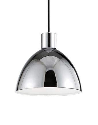 Pendant in Chrome with Heavy Plated Dome shade and Internal, White Acrylic ()