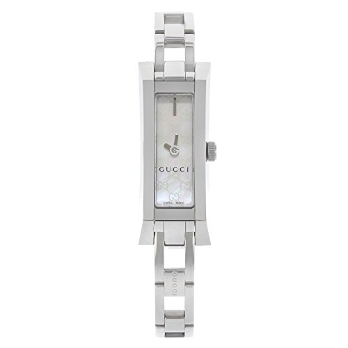 Gucci G-Link YA110525 Mini Bracelet Stainless Steel White Mother of Pearl Ladies Watch (Gucci White Bracelet)