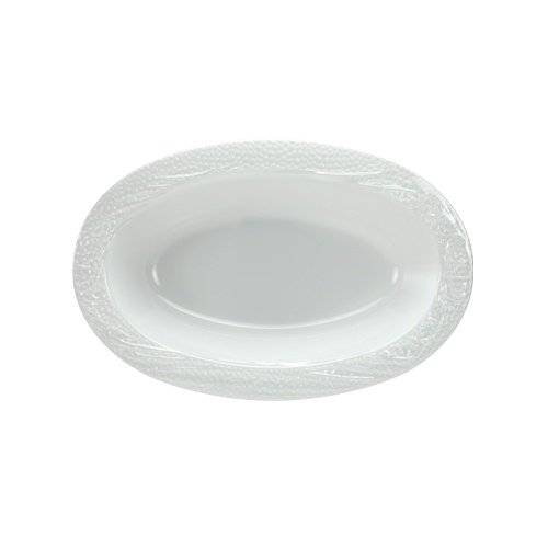 Lillian Tablesettings 3 Count Pebbled Oval Bowl, 32 oz, White