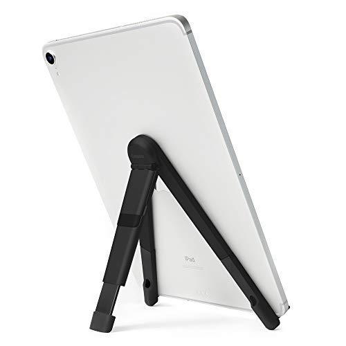 Twelve South Compass Pro for iPad | Portable Display Stand with 3 Viewing/Typing Angles iPad and iPad Pro, Matte Black